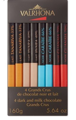 (預購)法國VALRHONA  巧克力磚8片組 Box of 8 Grands Crus chocolate bars 160g