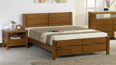 【DH】貨號DH007《柏娜》5尺精製柚木色實木雙人床架˙另有6尺˙質感一流˙主要地區免運