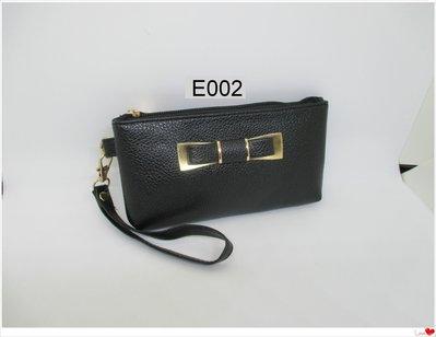 皮姐包弟~E002~蝴蝶結黑色手提包 手拿包 化妝包~可