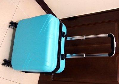 【99% New】17吋登機拉桿箱(淡雅藍)附全新同色子箱