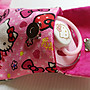 玫色KT貓平安符袋:小物收納袋(加磁扣袋)-可放平安符.幸運符.小奶嘴……等小物品/彌月禮