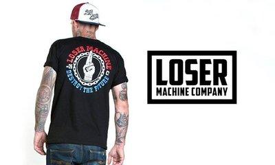 【AXE】LOSER MACHINE- UNITE T-SHIRT [深紅]街頭西岸硬派重機潮流 敗者機 美牌T恤