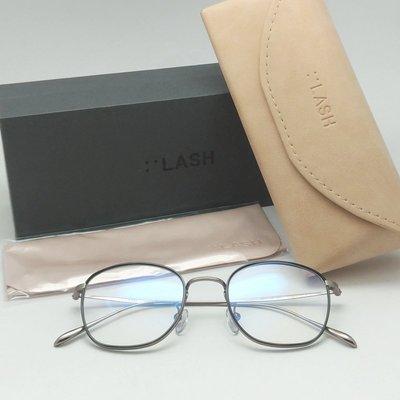 [恆源眼鏡]  LASH L-TYPE12 C2 光學眼鏡 銀色純鈦鏡框 韓流時尚流行精品 特價優惠