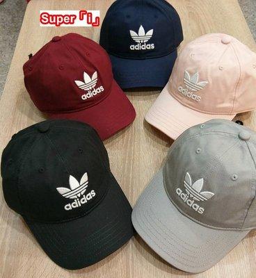 「i」【現貨】Adidas Originals Trefoil Cap三葉草 可調節 刺繡Logo 棒球帽 老帽 鴨舌帽