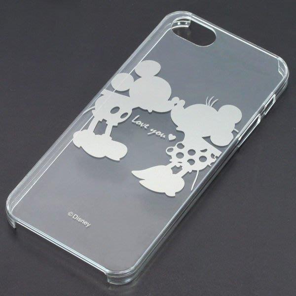 尼德斯Nydus~* 日本正版 Disney 迪士尼 透明 手機殼 保護殼 iphone5 5S 米奇x米妮 太空銀