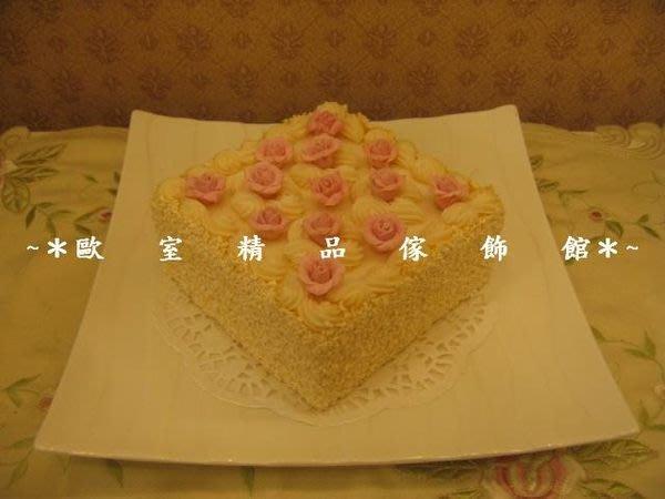 ~*歐室精品傢飾館*~仿真 人造蛋糕~ 玫瑰花奶油 6吋方型 蛋糕~新品上市~促銷價~