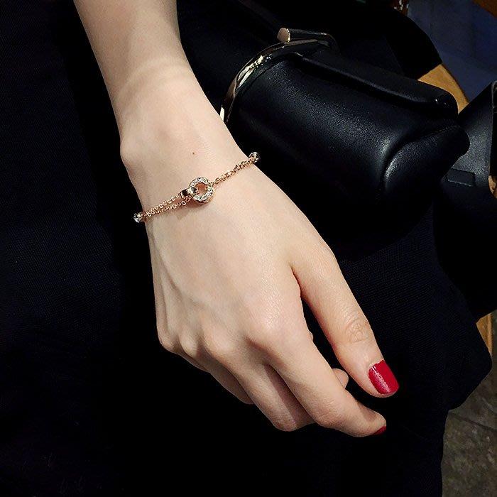 FEI日韓代購~冷淡風韓版簡約學生森系閨蜜個性清新百搭新手環手飾品水晶手鍊女