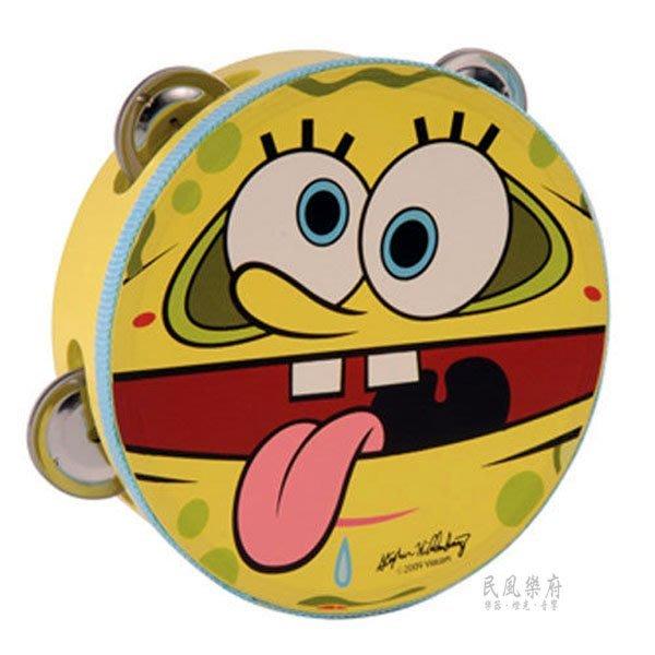 《民風樂府 》SpongeBob 正版授權 海綿寶寶 SBPP002 6吋鈴鼓 現貨在庫
