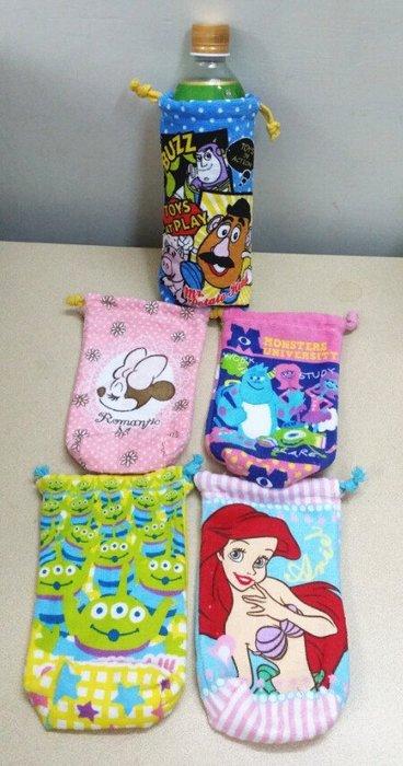 ☆Juicy☆日本 迪士尼 米妮 三眼怪 玩具總動員 小美人魚 束口袋 收納包 小物袋 水壺套 雨傘套 3281