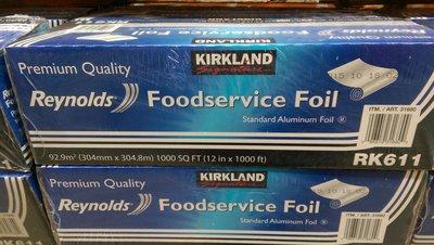 好市多COSTCO 線上代購~KIRKLAND 科克蘭 鋁箔紙(30.4公分*304.8公尺)/盒