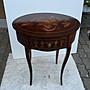 歐洲義大利拿波里手工雕花原木桌~251...
