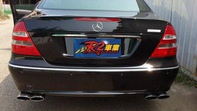 @沙鹿阿吐@BENZ W211 車系 E200K.E240.E320 賓士改裝排氣管尾段.雙出.四出尾管.現場尾飾管任選