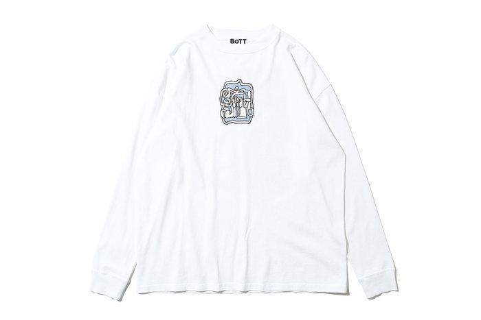 "[ LAB Taipei ] BOTT ""HOSE L/S TEE"" (White)"