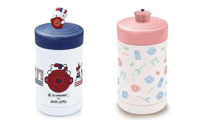 ☆Juicy☆超商 7-11 LE CREUSET  Hello Kitty LC 不鏽鋼悶燒罐  保溫杯 現貨