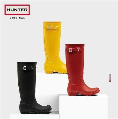 英國代購 Hunter 雨鞋 Original 經典 霧黑 惠靈頓 獵人靴 時尚防水舒適高長筒男女雨靴 大呎碼