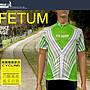 【飛輪單車】FETUM Rapidly極速短袖車衣(入門款-綠白)~吸溼排汗透氣材質