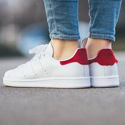 現貨 adidas Stan Smith w 女生尺寸 紅白 馬毛 S75562 女紅 23.5cm