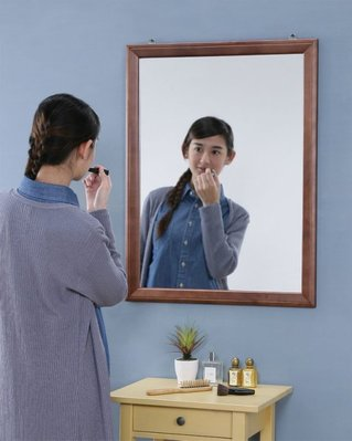 (1月促銷)80*60公分實木壁鏡掛鏡 穿衣鏡 全身鏡 化妝鏡【型號MR0860WA 】