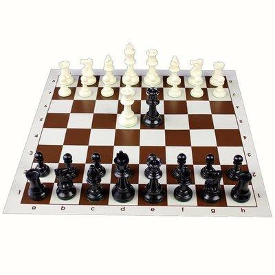 加重型款國際標準比賽王高97mm大號國際象棋套裝帶棋盤4個後599元