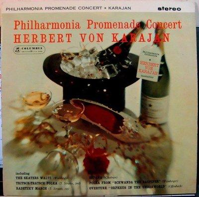 ***黑膠 Karajan - Philharmonia Promenade Concert (英Columbia SAX 2404藍底銀圈首版)