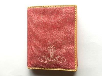 Vivienne Westwood 對折 零錢短夾 全新 紅色牛仔紋