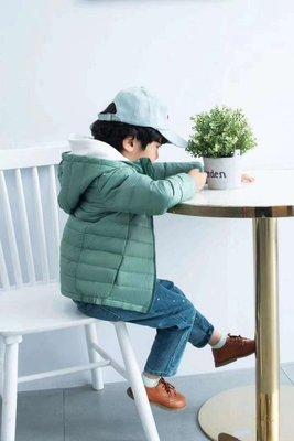 輕羽絨/優衣庫同款 兒童輕薄款羽絨外套~白鵝絨  連帽保暖外套 帽可拆
