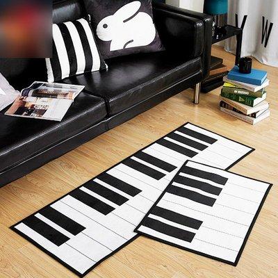 鋼琴地墊-法蘭絨鋼琴地毯 黑白鍵地墊 裝飾腳踏墊 臥室地毯 黑白鍵地毯(45*115cm)_☆優購好SoGood☆