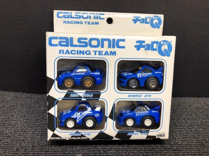 【JP.com】TAKARA CHORO-Q CALSONIC RACING TEAM Q版迴力車 套裝