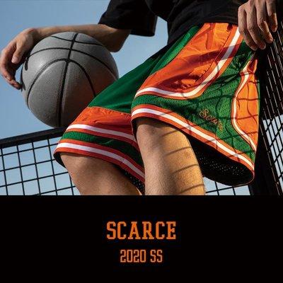 溜溜SCARCE美式籃球褲短褲男女運動休閑寬松短褲街頭復古訓練五分褲