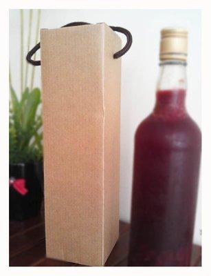酒盒酒瓶盒酒提盒紅瓦愣酒盒單入500ml瓦愣提盒酵素瓶盒