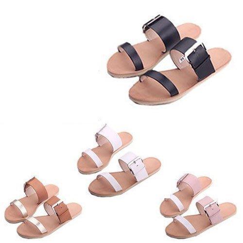 拖鞋 全真皮手工平底拖鞋 MIT台灣手工鞋 丹妮鞋屋 限量商品