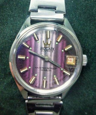 OQ精品腕錶   瑞士手上錬機械錶錶頭全新帶二手壓克力鏡面中性錶不含龍頭32MM