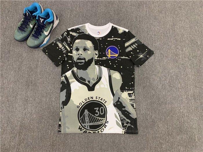 NBAT血職籃球星史蒂芬·柯瑞(Stephen Curry)30號 金州勇士隊   籃球運動T血  正版