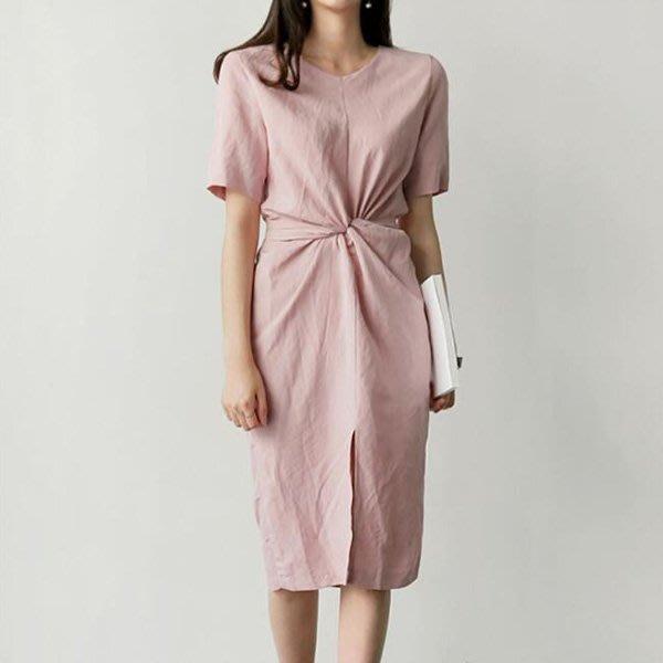 限時早鳥價到5/20調回原價750 別緻交叉綁帶收腰連身裙 艾爾莎【TAE8298】
