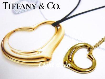 【Light & co.】專櫃真品 TIFFANY 750 K金 18K  5 鑽石 小Open Heart 項鍊 小愛心 心型 項鍊