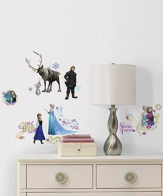 【KIDS FUN USA】RoomMates 迪士尼Frozen 冰雪奇緣 經典主題 DIY防水壁飾/重複貼-美國原裝