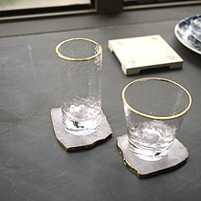 【四季居家用品】無鉛高溫玻璃水波紋金線裝飾玻璃茶杯/果汁杯/飲料/酒杯