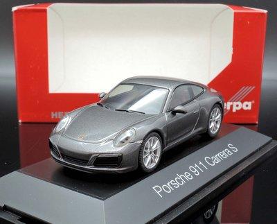 【MASH】[現貨特價]  Herpa 1/43 Porsche 991 II Carrera coupe 灰