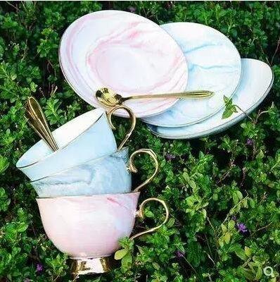 ZIHOPE 陶瓷拿鐵咖啡杯美式卡布奇諾專業拉花創意帶勺歐式咖啡杯碟套裝ZI812