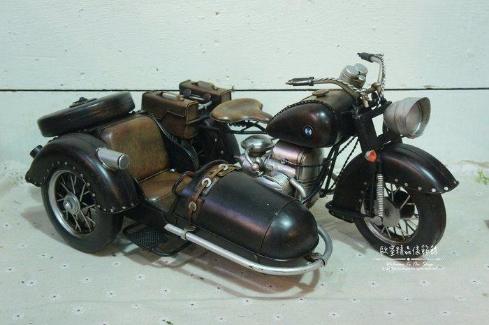 ~*歐室精品傢飾館*~ Loft復古工業 美式鄉村 手工 鐵製 復古 BMW 重機 摩托車 收藏 模型 擺飾~新款上市~