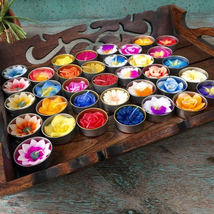 「還願佛牌」泰國 綜合 花 精油 蠟燭  8入 供奉 佛牌 香氛 big