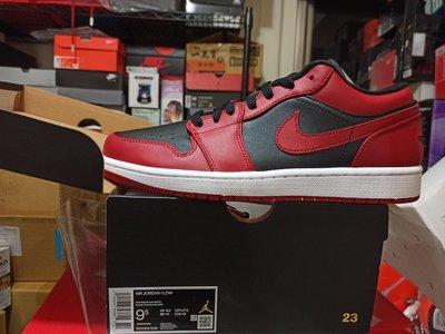 Nike AIR JORDAN 1 LOW Reverse Bred 黑紅 553558-606 籃球 us9.5 拜託! 無誠勿擾!