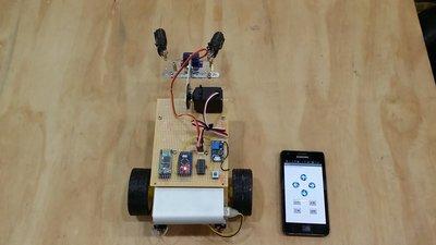 『好人助教』Android專題製作 Arduino 手機藍芽遙控車+機械手臂 學生專題