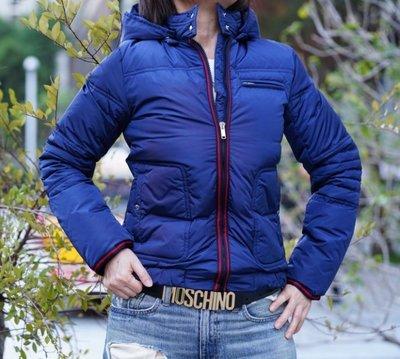 Gucci 027510 Down Jacket 羽絨外套 深藍 配 紅黑拉鍊