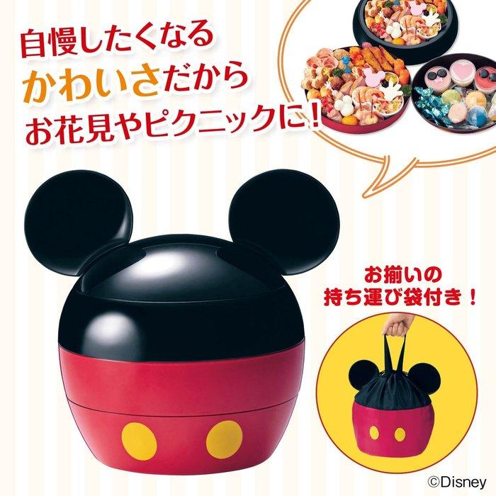 日本製 Disney 迪士尼 米奇 三段重 運動會 日式野餐盒 保鮮盒 便當盒 附提袋 LUCI日本代購