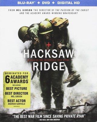 BD 全新美版【鋼鐵英雄】【Hacksaw Ridge】Blu-ray 藍光