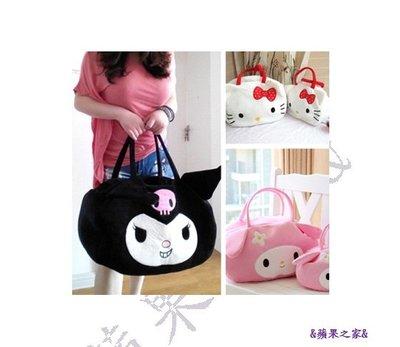 &蘋果之家&現貨-萌噠噠!惡魔/Hello Kitty/美樂蒂毛絨單肩/手提外出大購物包-尺寸約48*30cm