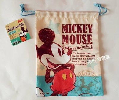 *日本限定直送*迪士尼插畫風米奇束口袋/萬用袋