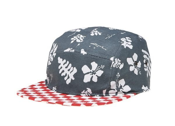 { POISON } VANS DAVIS 5 PANEL CAMP CAP 紅白格帽沿花帽身 五分割帽 五片帽