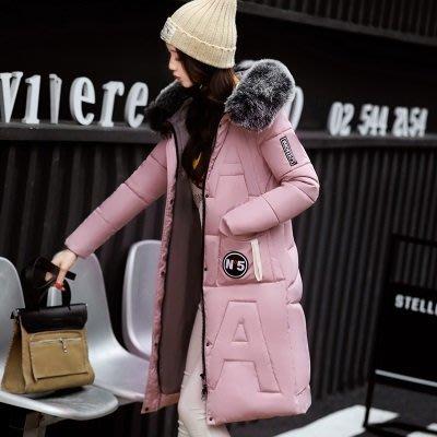 羽絨外套 連帽夾克-中長款修身加厚毛領女外套6色73pa11[獨家進口][米蘭精品]